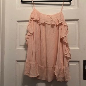 Pink freepeople tank top